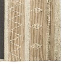 Paloma II 120 x 96 Brown/Cream Hemp/Wool Raised Detail Rug