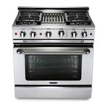 "36"" four burner gas self-clean range w/ 12"" Thermo-Griddle™ + convection oven - LP"