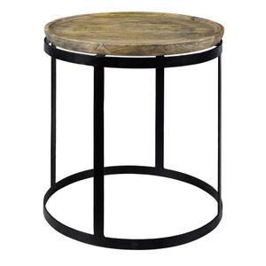 CRESTVIEW COLLECTIONSBengal Manor Mango Wood and Metal Round End Table