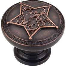 "1-3/8"" Diameter 5 Point Star Cabinet Knob."