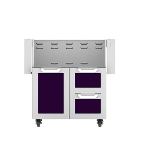 """Hestan - 30"""" Hestan Outdoor Tower Cart with Door/Drawer Combo - GCR Series - Lush"""