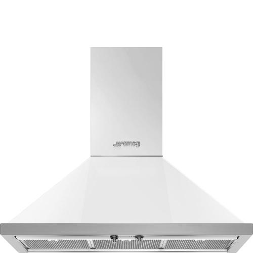 "36"" Portofino Chimney Hood, White"