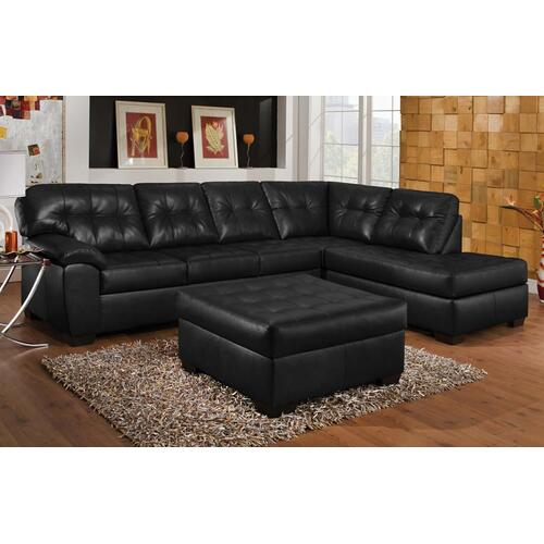 Soho Onyx Bonded Right Facing Sofa with Chaise