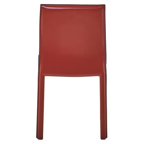 Gervin Recycled Leather Chair, Cordovan