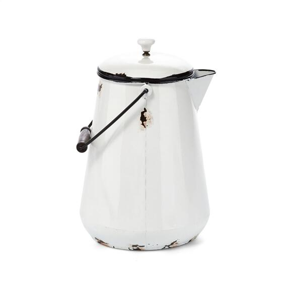 Monroe Antique Enamel Lidded Pot
