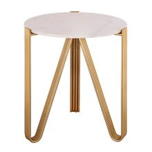 View Product - Aya Marble Side Table by Inspire Me! Home Decor