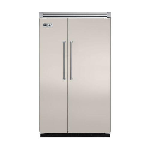 "Viking - Oyster Gray 48"" Quiet Cool™ Side-by-Side Refrigerator/Freezer - VISB Tru-Flush™ (48"" wide)"