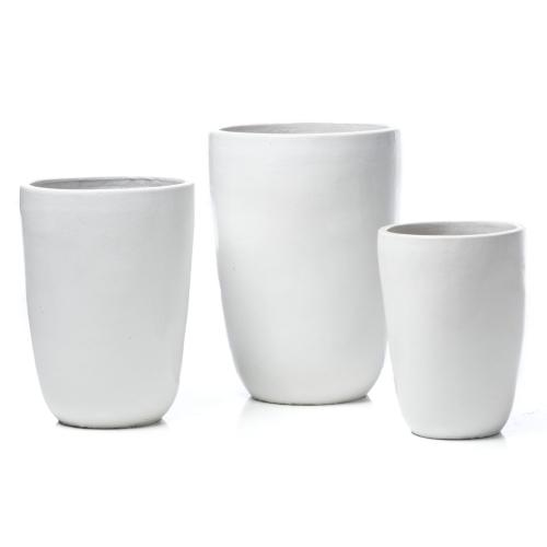 Charmant Tall Round Planter - Set of 3