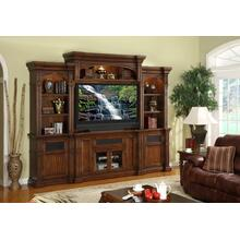 "Berkshire Super 60"" TV Console with 2 Piers and Bridge"