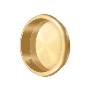 """Flush Pull, Round, 2-1/2"""" Diam. - PVD Polished Brass Product Image"""
