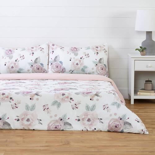 Duvet Cover Watercolor Floral - 54''