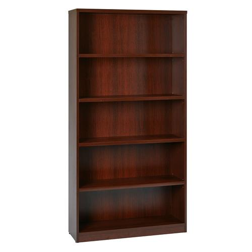 """36wx12dx72h 5-shelf Bookcase With 1"""" Thick Shelves -"""