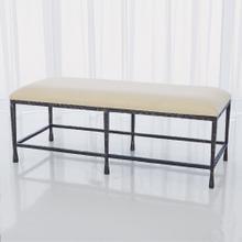 Quad Pod Bench w/Muslin Cushion-Natural Iron