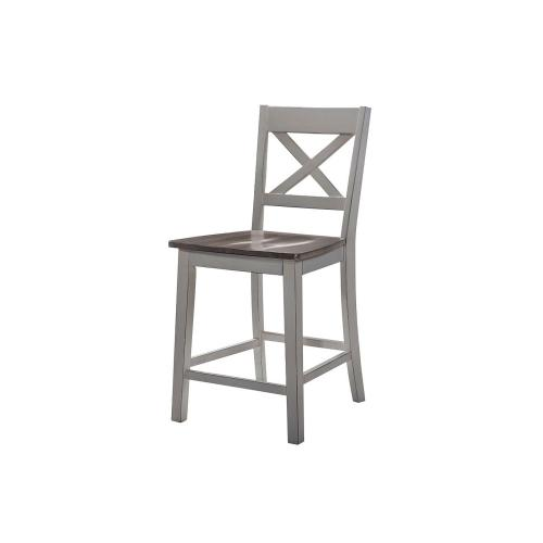 5059 A La Carte Gray 2-Pack Counter Height Barstools