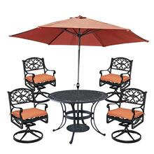 Product Image - Sanibel 7 Piece Outdoor Dining Set With Umbrella and Cushions