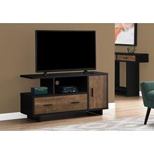 "TV STAND - 48""L / BLACK / BROWN RECLAIMED WOOD-LOOK"