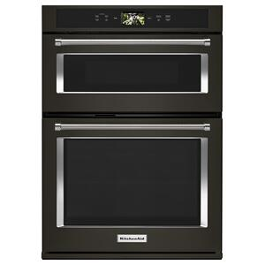 "KITCHENAIDSmart Oven+ 30"" Combination Oven with Powered Attachments and PrintShield(TM) Finish - Black Stainless Steel with PrintShield(TM) Finish"