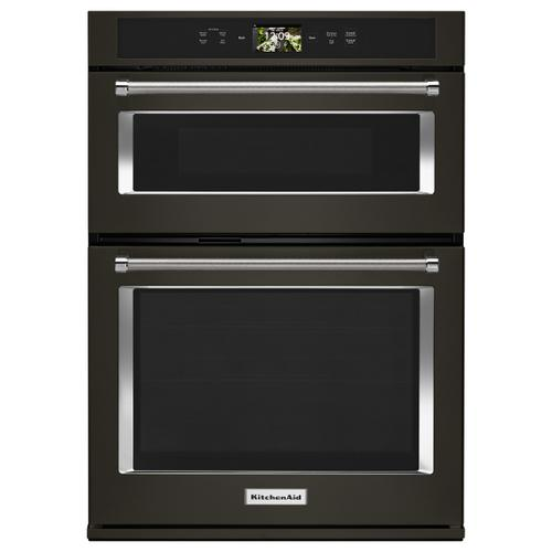 "Smart Oven+ 30"" Combination Oven with Powered Attachments and PrintShield™ Finish - Black Stainless Steel with PrintShield™ Finish"