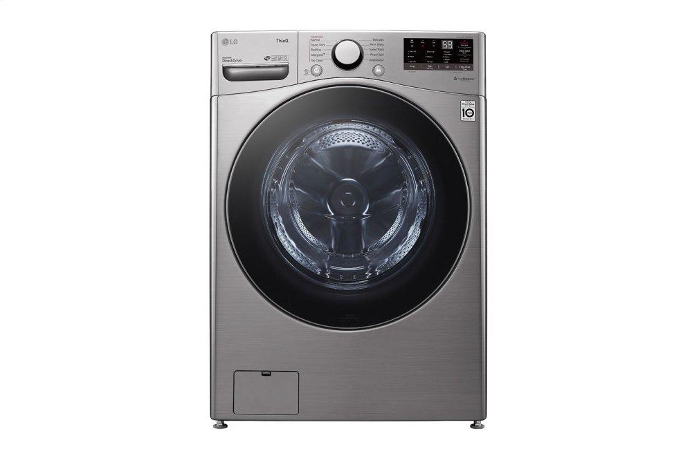 LG Appliances4.5 Cu. Ft. Ultra Large Capacity Smart Wi-Fi Enabled Front Load Washer With Built-In Intelligence & Steam Technology