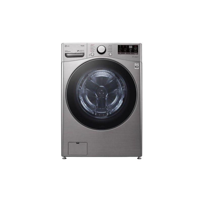 LG 4.5 cu. ft. Ultra Large Capacity Smart wi-fi Enabled Front Load Washer with Built-In Intelligence & Steam Technology
