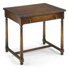 Rectangular parquet side table with drawer