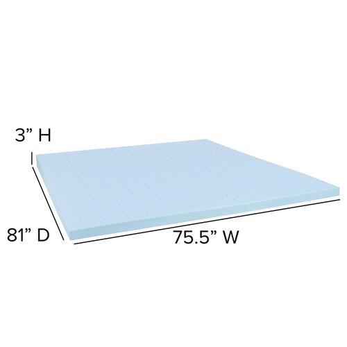 Flash Furniture - Capri Comfortable Sleep 3 inch Cool Gel Memory Foam Mattress Topper - King