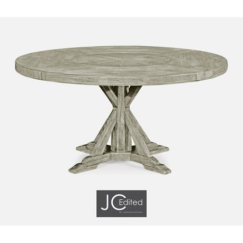 "60"" Circular Dining Table in Rustic Grey"