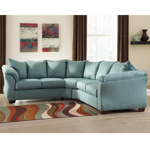 Signature Design by Ashley Darcy Sectional in Sky Microfiber [FSD-1109SEC-SKY-GG]