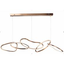 Seoul LED Hoops Chandelier // Chrome Finish