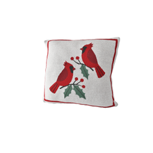 Cardinal Knit Pillow