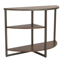 Sullivan Console Table In Pewter and Walnut Finish