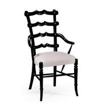 """Yoke"" ladderback armchair black"