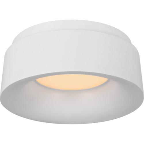 Visual Comfort BBL4090WHT Barbara Barry Halo LED 6 inch White Flush Mount Ceiling Light, Petite