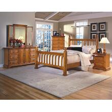 Honey Creek 6/6 EK Poster Bed - 6 Drwr Dresser