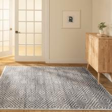 See Details - Avilla - Aged Diamonds Area Rug, Beige and Gray, 5' x 7'