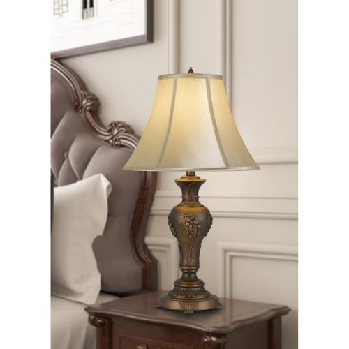 100W Cavan Aluminum Casted Table Lamp With Softback Faux Silk Shade
