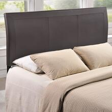 Isabella Queen Upholstered Vinyl Headboard in Brown