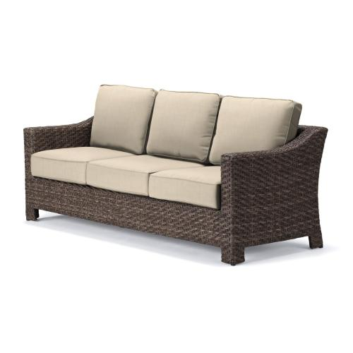 Lake Shore Wicker Three-Seat Sofa