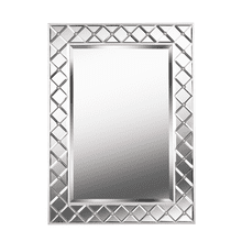 Quill - Mirror with Champagne and Beveled Glass Frame