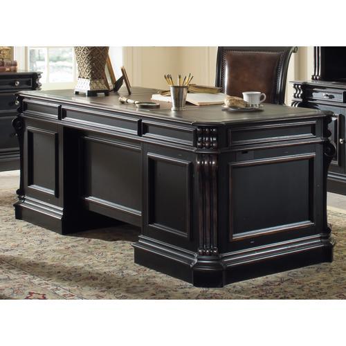 Telluride 76'' Executive Desk w/Wood Panels