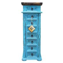 Blue Jewelry Chest Side Door