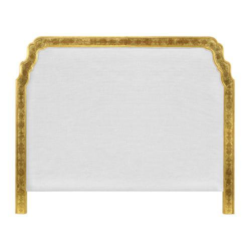 US King Gilded & glomise Headboard, Upholstered in COM
