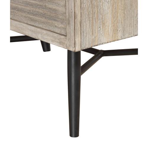 Emerald Home Nova 6 Drawer Dresser Sterling Gray Finish With Back Metal Legs B700-01