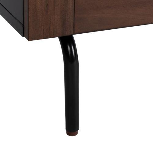 Genevieve 3 Drawer Dresser - Black / Walnut