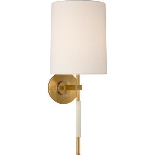 Visual Comfort BBL2130SB-L Barbara Barry Clout 1 Light 8 inch Soft Brass Tail Sconce Wall Light