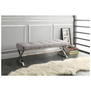 Kona Gray Linen Bench