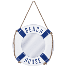 """Beach House"" Enamel Wall Mirror"
