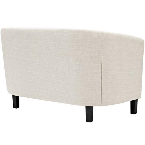 Prospect 2 Piece Upholstered Fabric Loveseat and Armchair Set in Beige