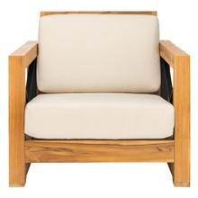 Curacao Outdoor Teak Club Chair - Natural / White