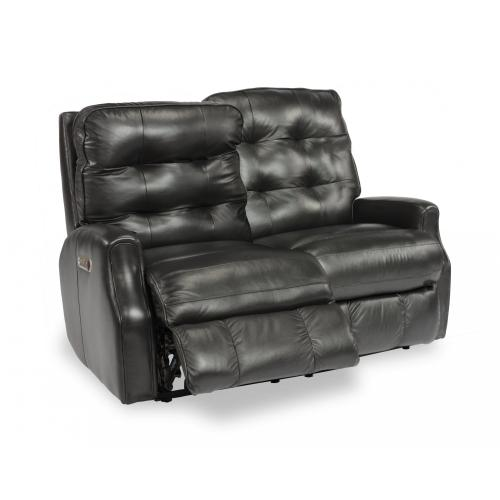 Devon Power Reclining Loveseat with Power Headrests